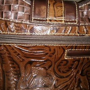 MC Bags - MC brown leather embellished purse.